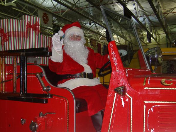 Santa at FASNY Museum of Firefighting